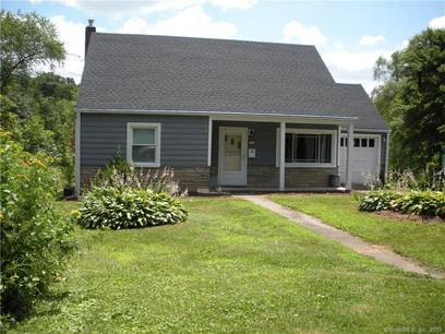 Single Family Home Sold in Danbury CT 06810.  cape cod house near river side waterfront with 1 car garage.