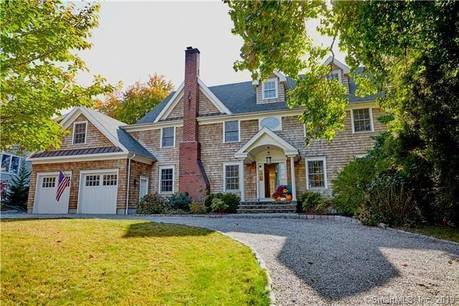 Single Family Home Sold in Fairfield CT 06890. Colonial house near beach side waterfront with 2 car garage.