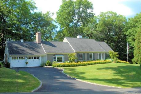 Single Family Home For Sale in Greenwich CT 06831.  cape cod house near waterfront with 2 car garage.
