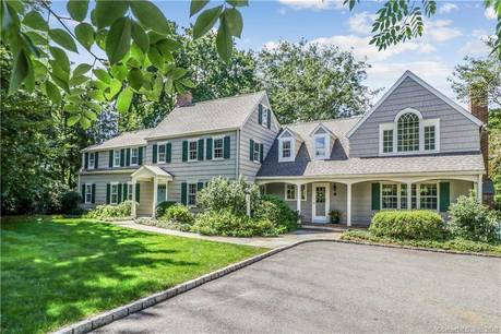 Single Family Home Sold in Westport CT 06880. Old colonial house near beach side waterfront with 3 car garage.