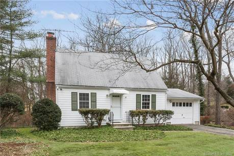 Single Family Home Sold in Wilton CT 06897.  cape cod house near waterfront with 1 car garage.