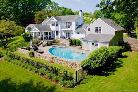 Single Family Home For Rent in New Canaan CT 06840. Old antique house near waterfront with swimming pool and 2 car garage.