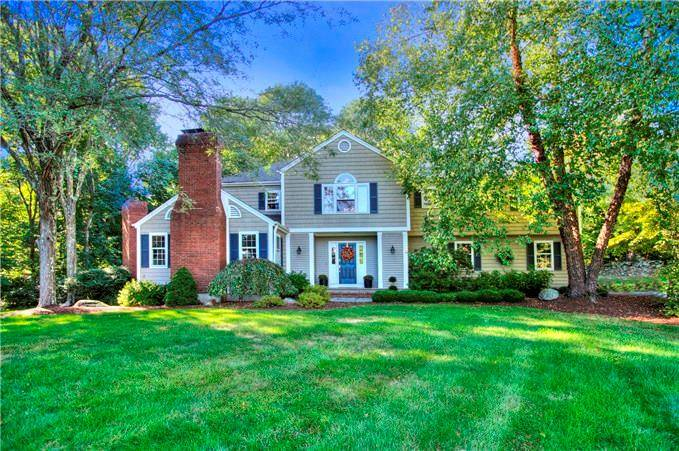 Single Family Home Sold in Westport CT 06880. Colonial house near waterfront with swimming pool and 2 car garage.
