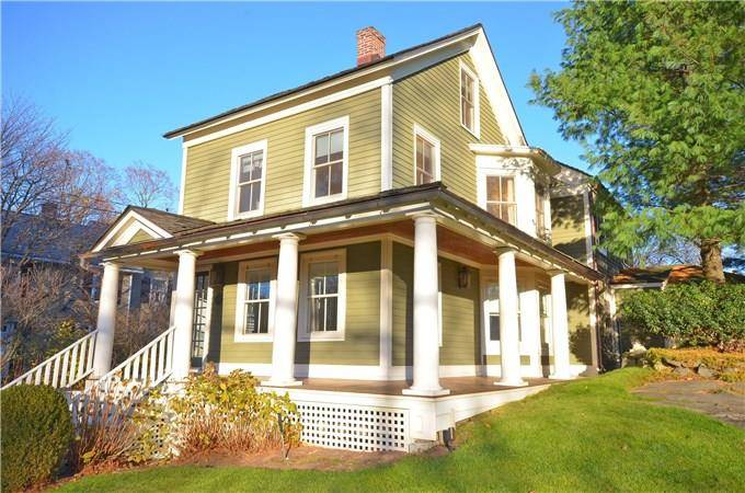 Single Family Home Sold in Greenwich CT 06830. Old  farm house near waterfront with 2 car garage.
