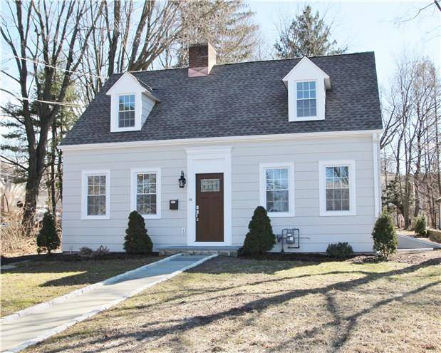 Single Family Home Sold in Stamford CT 06905.  cape cod house near waterfront with 2 car garage.
