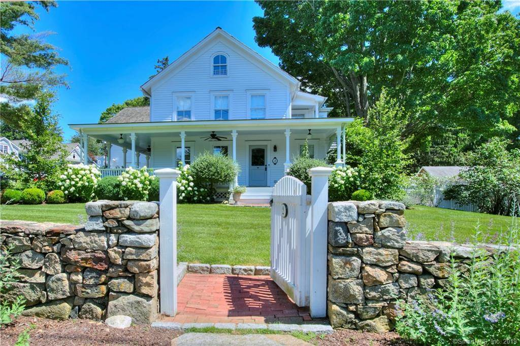 Single Family Home Sold in New Canaan CT 06840. Old colonial farm house near waterfront with 2 car garage.