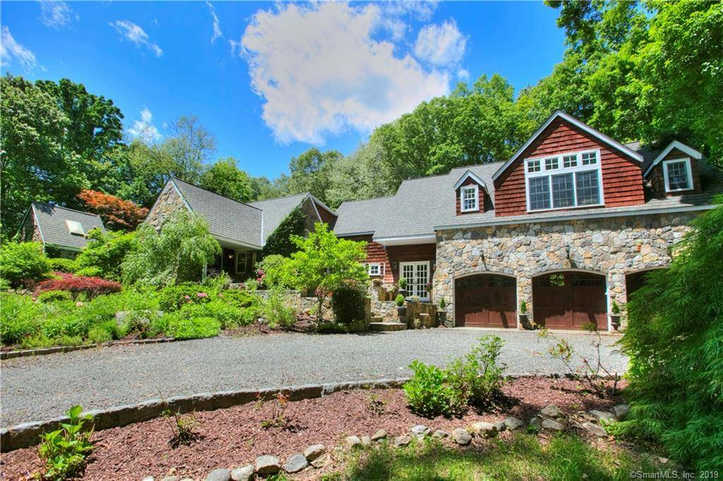 Single Family Home Sold in Westport CT 06880. Old colonial farm house near beach side waterfront with 3 car garage.