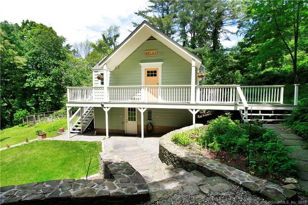 Single Family Home Sold in Sherman CT 06784. Ranch house near river side waterfront.