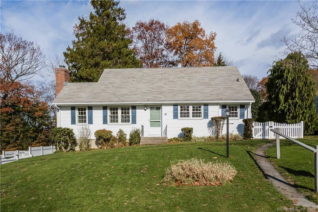 Single Family Home Sold in Darien CT 06820.  cape cod house near beach side waterfront with 1 car garage.