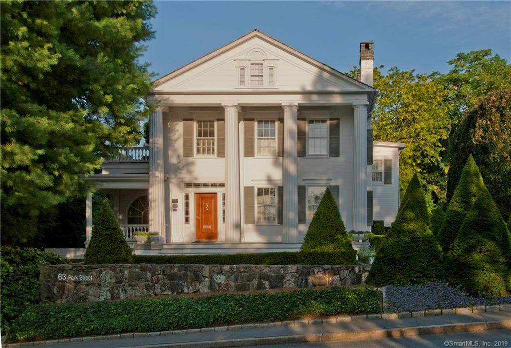 Luxury Single Family Home Sold in New Canaan CT 06840. Old antique house near waterfront with 2 car garage.