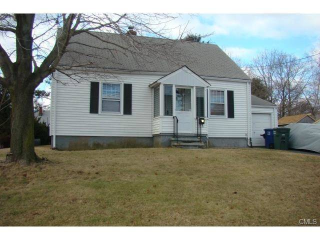 Single Family Home Rented in Bridgeport CT 06606.  cape cod house near waterfront with 1 car garage.