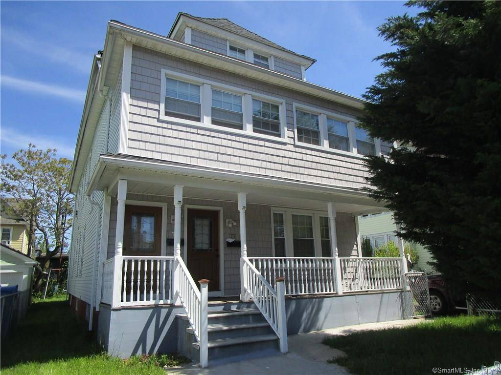 Multi Family Home Sold in Bridgeport CT 06610. Old  house near beach side waterfront with 2 car garage.