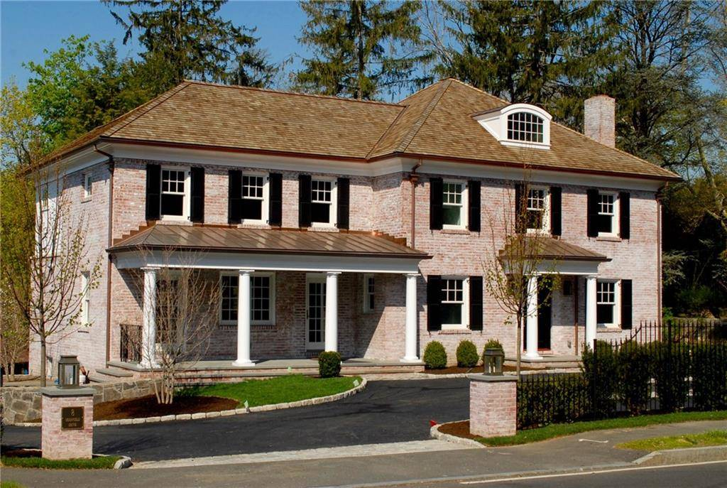 Luxury Single Family Home Sold in Greenwich CT 06831. Old colonial house near river side waterfront with 2 car garage.