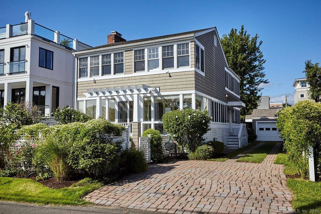 Single Family Home Sold in Westport CT 06880. Colonial house near beach side waterfront with 1 car garage.